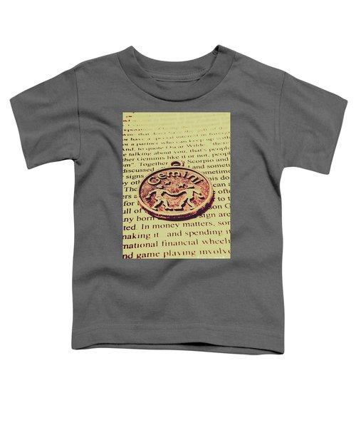 Old Horoscope Of Gemini Toddler T-Shirt