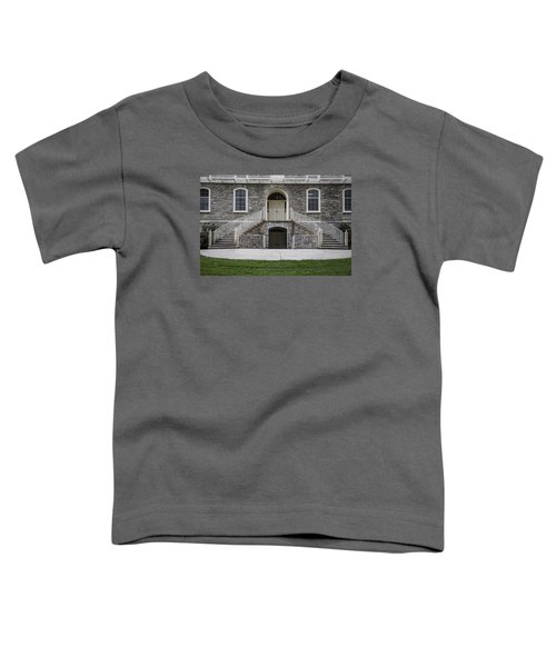 Old Main Penn State Stairs  Toddler T-Shirt by John McGraw