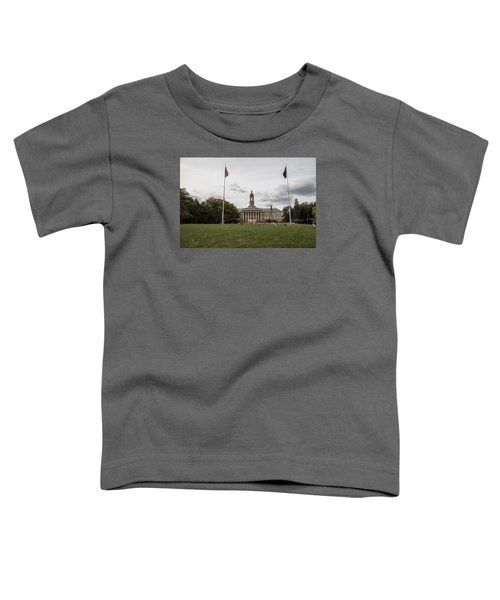 Old Main Penn State Wide Shot  Toddler T-Shirt by John McGraw