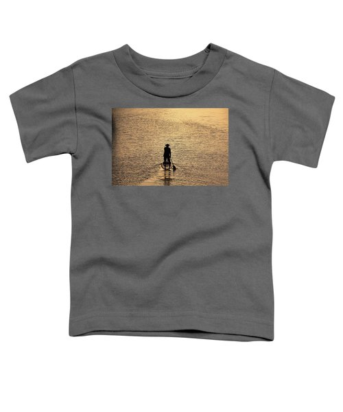 Old Man Paddling Into The Sunset Toddler T-Shirt