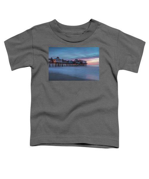 Old Orcharch Beach Pier Sunrise Toddler T-Shirt