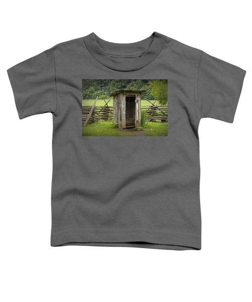 Old Outhouse On A Farm In The Smokey Mountains Toddler T-Shirt