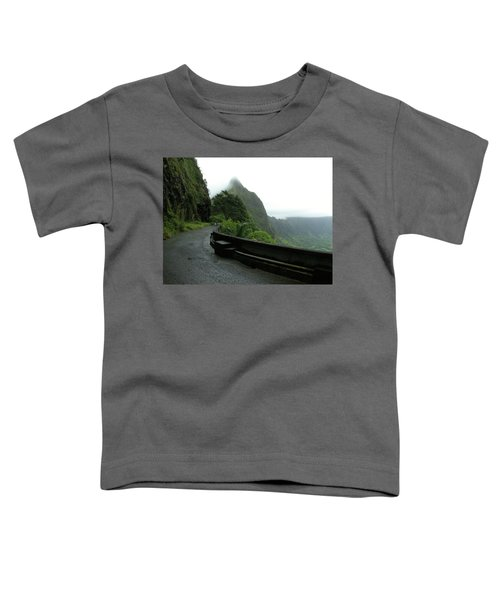 Toddler T-Shirt featuring the photograph Old Pali Road, Oahu, Hawaii by Mark Czerniec
