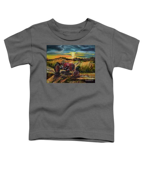 Old Red At Sunset - Tractor Toddler T-Shirt