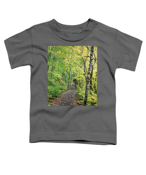 Toddler T-Shirt featuring the photograph Old Rr Right-away by Peter Simmons