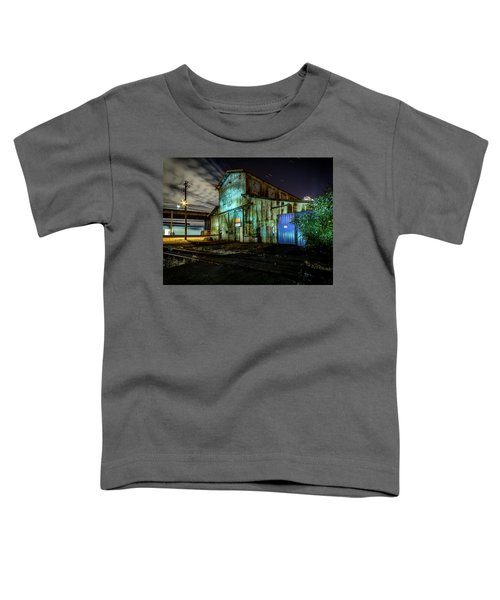 Old Tacoma Industrial Building Light Painted Toddler T-Shirt