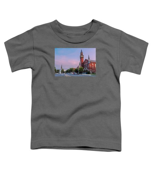 Old Town Hall Sunset Sky Toddler T-Shirt