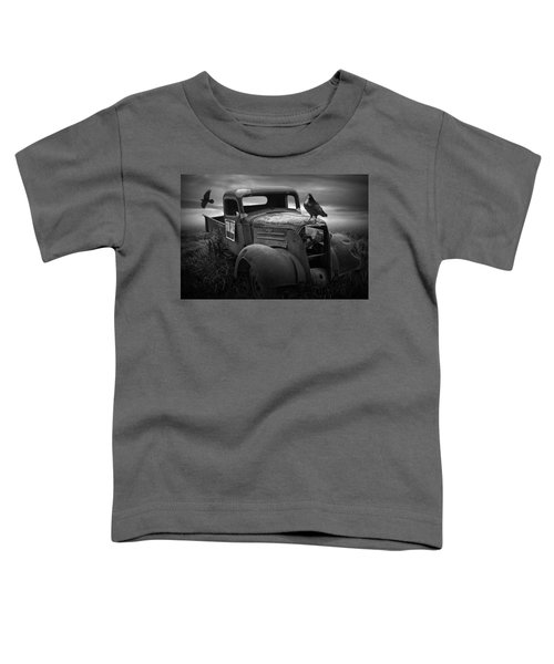 Old Vintage Chevy Pickup Truck With Ravens Toddler T-Shirt