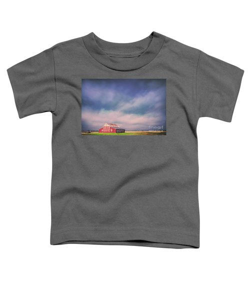 Ominous Clouds Over The Aggie Barn In Reagan, Texas Toddler T-Shirt