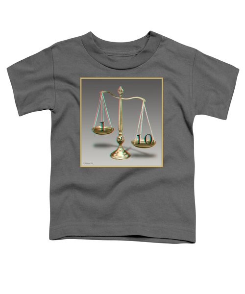 On A Scale Of - Use Red-cyan 3d Glasses Toddler T-Shirt