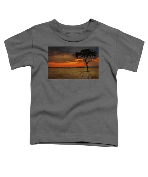 On A  Serengeti Evening  Toddler T-Shirt