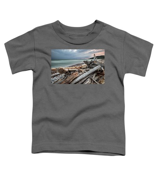 Toddler T-Shirt featuring the photograph On The Beach by Doug Gibbons
