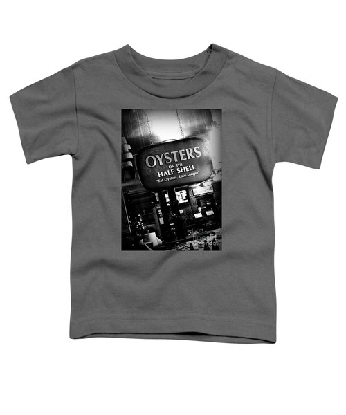 On The Half Shell - Bw Toddler T-Shirt