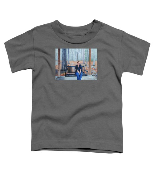 On The Porch Swing Toddler T-Shirt