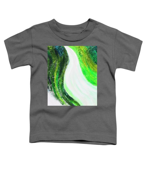 On The Road In Green Toddler T-Shirt