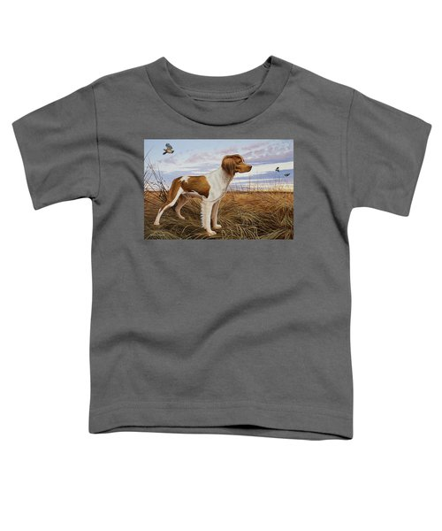 On Watch - Brittany Spaniel Toddler T-Shirt