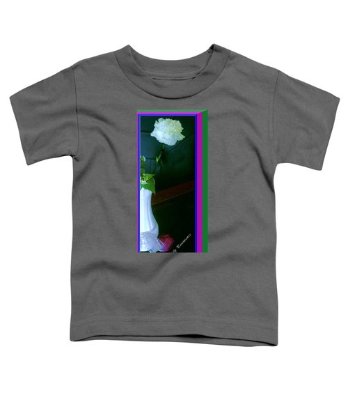 One Carnation And One Rose Bud Toddler T-Shirt