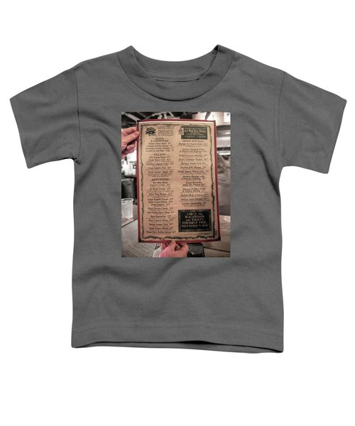 One Good Menu Stock Island Florida Keys Toddler T-Shirt