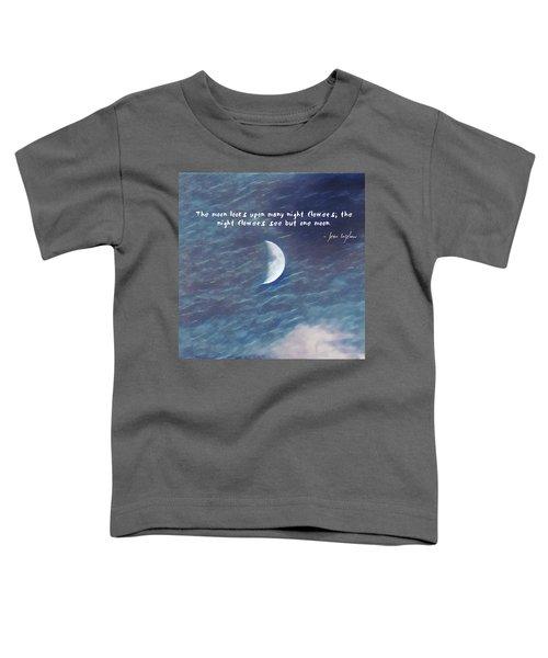 One Moon Toddler T-Shirt