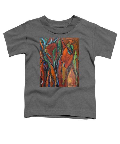 Orange Abstract Toddler T-Shirt