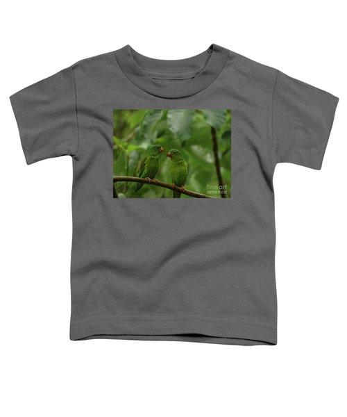 Orange-chinned Parakeets-  Toddler T-Shirt