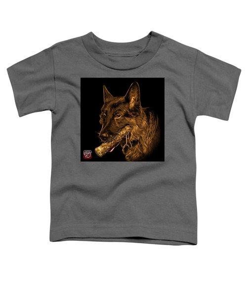 Orange German Shepherd And Toy - 0745 F Toddler T-Shirt