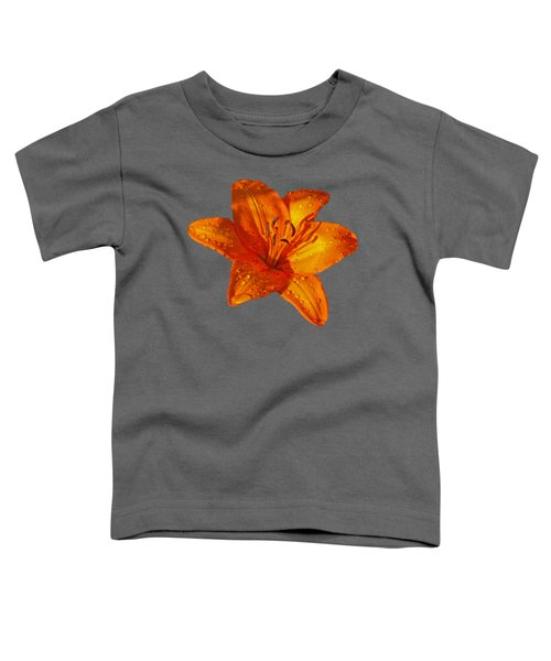 Orange Lily In Sunshine After The Rain Toddler T-Shirt by Gill Billington