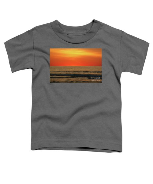 Orange Sunset On The Jersey Shore Toddler T-Shirt