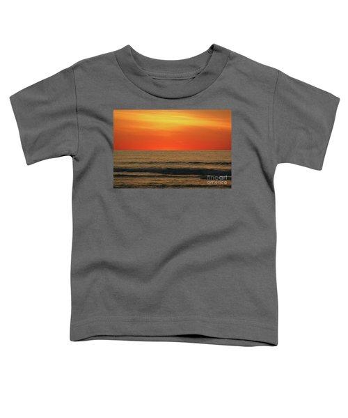 Orange Sunset On The Jersey Shore Toddler T-Shirt