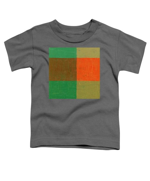 Orange With Brown And Teal Toddler T-Shirt by Michelle Calkins