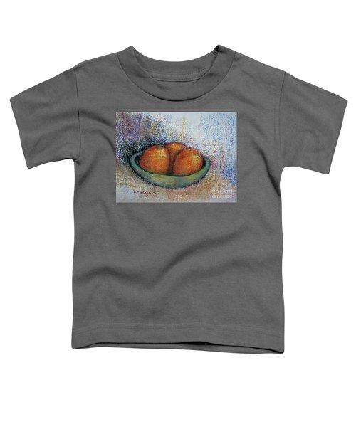 Oranges In Celadon Bowl Toddler T-Shirt