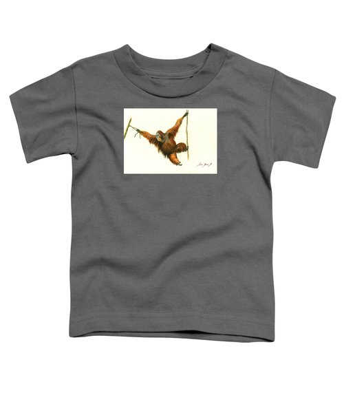 Orangutan Toddler T-Shirt by Juan Bosco