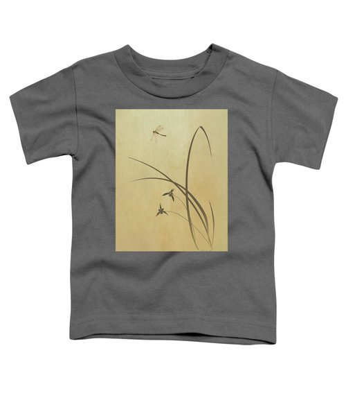 Orchid And Dragonfly Toddler T-Shirt