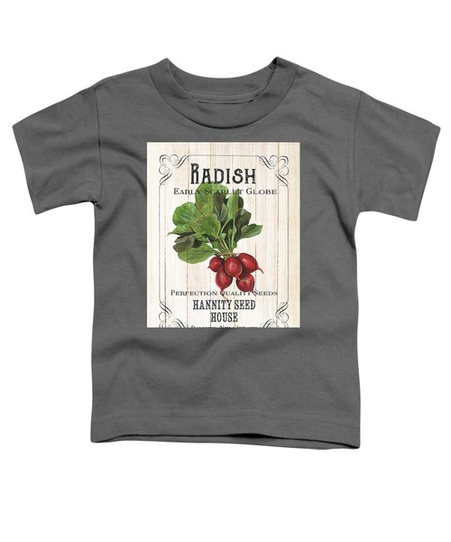 Organic Seed Packet 3 Toddler T-Shirt by Debbie DeWitt
