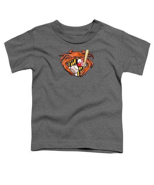 Oriole Baseball Crab Maryland Crest Toddler T-Shirt
