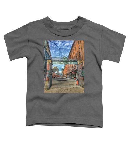 Oriole Park At Camden Yards - Eutaw Street Gate Toddler T-Shirt