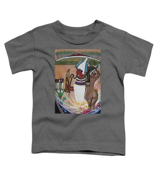Blaa Kattproduksjoner         Osiris With Goddess Isis And 4 Grandkids Toddler T-Shirt