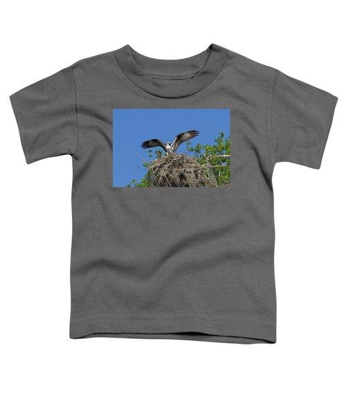 Osprey On Nest Wings Held High Toddler T-Shirt