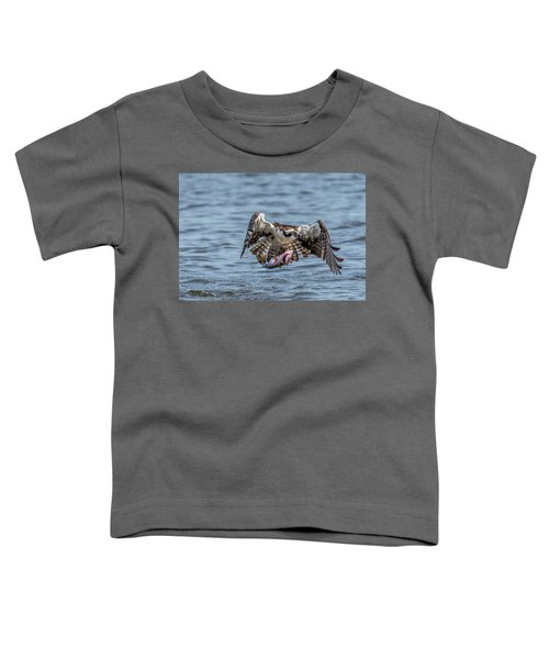 Toddler T-Shirt featuring the photograph Osprey With Catch 9108 by Donald Brown