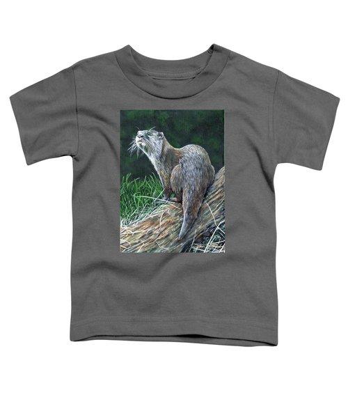 Otter On Branch Toddler T-Shirt