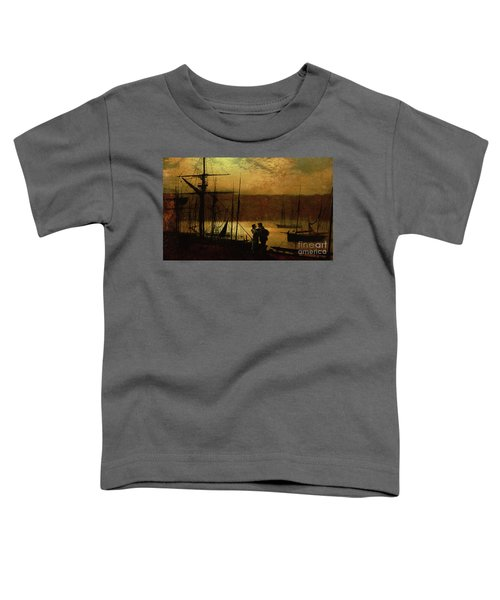 Outward Bound  A View Of Whitby, 1887 Toddler T-Shirt