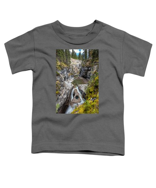 Owl Face Falls Of Maligne Canyon Toddler T-Shirt