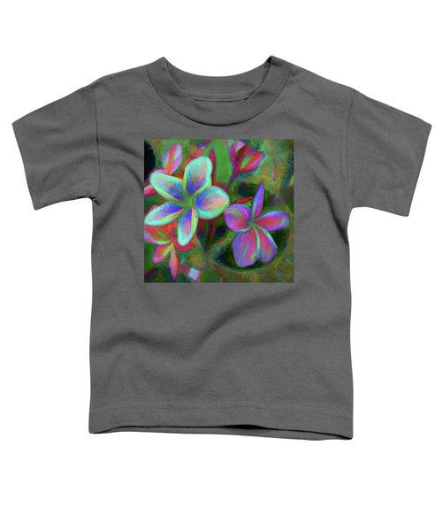 Painterly Frangipanis Toddler T-Shirt