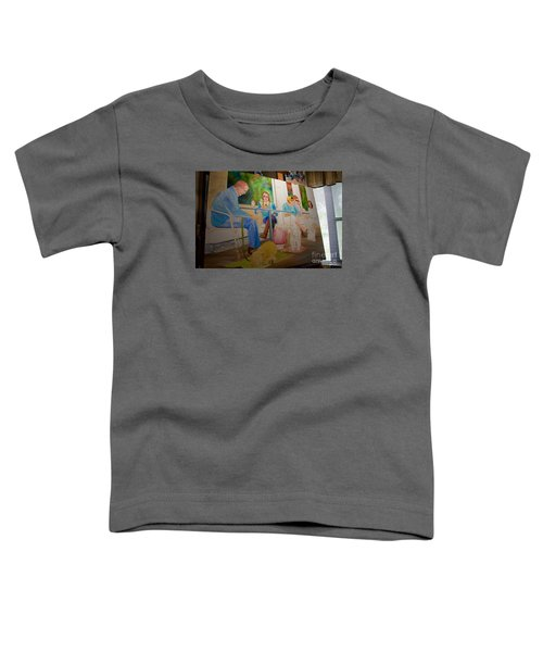 Painting Dogs On Park Avenue Toddler T-Shirt