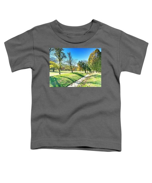Painting With Shadows - Park Day Toddler T-Shirt