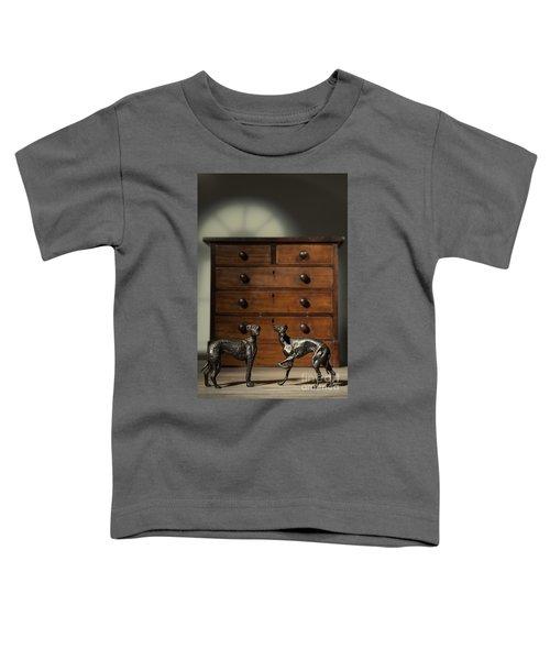Pair Of Greyhound Dog Figures Toddler T-Shirt