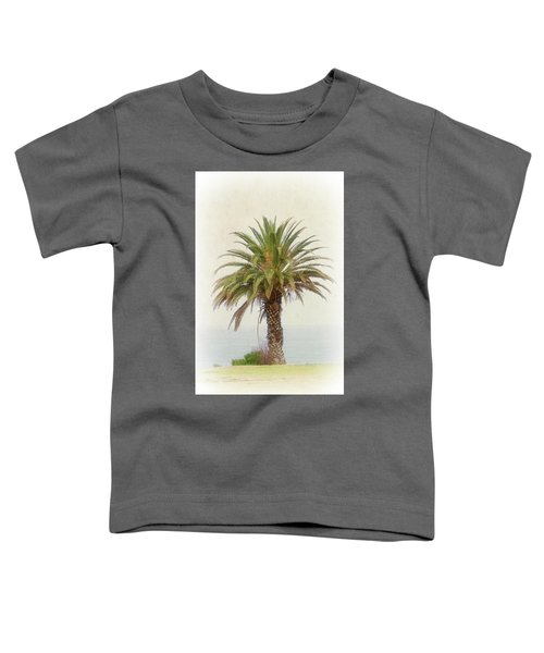 Palm Tree In Coastal California In A Retro Style Toddler T-Shirt