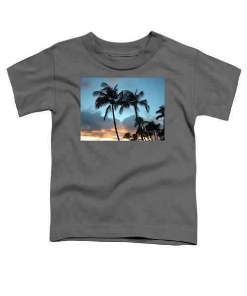 Palm Trees At Sunset Toddler T-Shirt