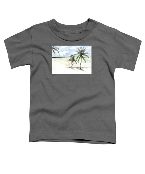 Palm Trees On The Beach Toddler T-Shirt