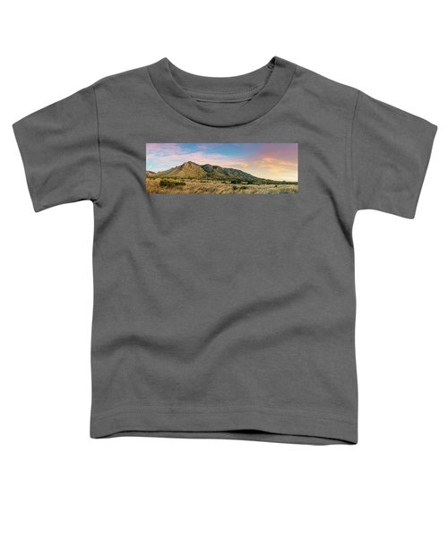Panorama Of Hunter Peak And Frijole Ridge At Guadalupe Mountains National Park - West Texas Toddler T-Shirt